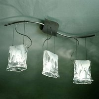 3 bulb MURANO hanging light with alabaster glass