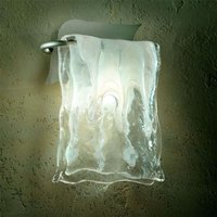 Aluminium glass MURANO wall light