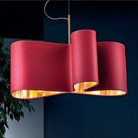 Curved hanging light Mugello  red gold