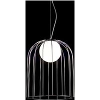 Large designer pendant light Kluvi  chrome