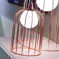 Small table lamp Kluvi in copper