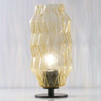 Origami   table lamp in amber