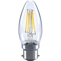 B22 4W 827 LED candle bulb  clear