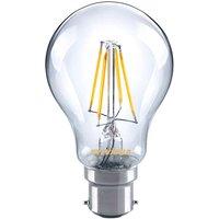 B22 4W 827 LED filament bulb  clear