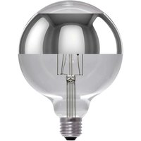 LED globe bulb G125 circle mirror E27 8 W dimmable