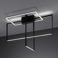 Area LED ceiling lamp in black