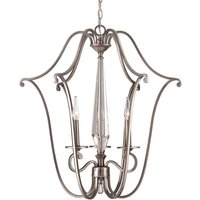 Stylish hanging light Kendall with three candles