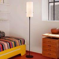 Slim designer floor lamp Club with chintz shade