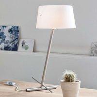Slant   a slanted designer fabric table lamp