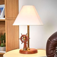 Brilliant table lamp STEERING with wood