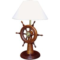 HELMSTAND   table lamp with wooden steering wheel