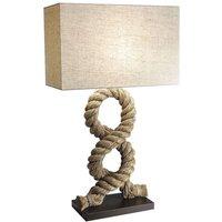 Unique table lamp VICTORIA  square lampshade