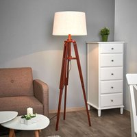 Tripod floor lamp Marvin in wood  height 158 cm