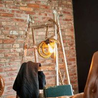 Exceptional hanging lamp Mila made of rope