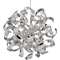 Sparkling Curls pendant lamp with crystals 36