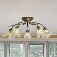 Elegant Lily ceiling crown  antique brass look