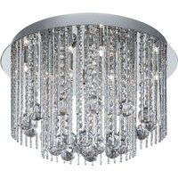 Beatrix ceiling light with crystals