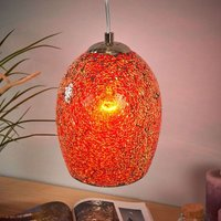Warm coloured hanging light Crackle