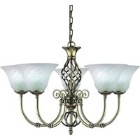 Cameroon colonial style chandelier  five bulb