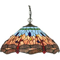 Classic Tiffany style Dragonfly hanging light