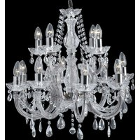 Classic Marie Therese chandelier  12 bulb  chrome