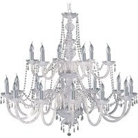 18 bulb Hale crystal chandelier