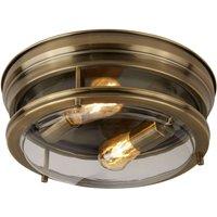 Edinburgh ceiling light in antique brass