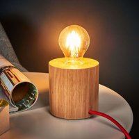 Trongo table lamp  oiled cylinder  red cable