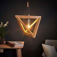 Wooden Trigonon pendant light