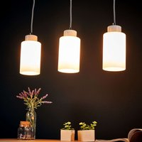 Bosco linear pendant light  white  3 bulb