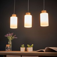 Bosco linear pendant light  oiled oak  3 bulb