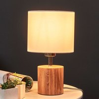 Trongo table lamp  cylinder oiled  lampshade