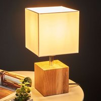 Trongo table lamp cube oiled lampshade