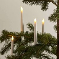 Set of four wireless Xmas tree candles Carolin