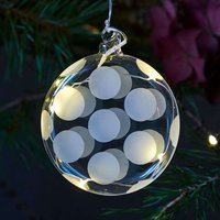 Polka LED decorative bauble  glass  hanging   8 cm