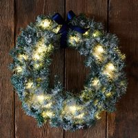 LED wreath Anton with timer  green