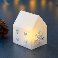 Santa House LED decorative light  8 5 cm high