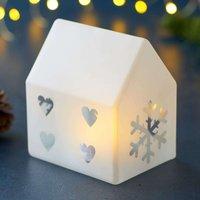 Santa House LED decorative light  11 5 cm high