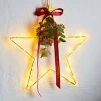 Liva Star LED decorative star  gold 30 cm diameter
