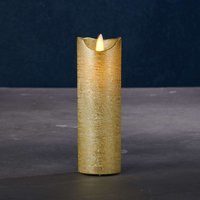 Sara Exclusive LED candle  gold    5cm height 15cm