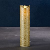 Sara Exclusive LED candle  gold   5cm height 20 cm