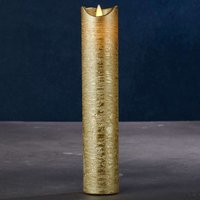 Sara Exclusive LED candle  gold   5cm height 25 cm