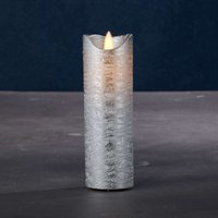 Sara Exclusive LED candle silver   5cm height 15cm