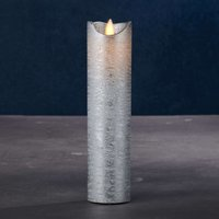 Sara Exclusive LED candle silver   5cm height 20cm