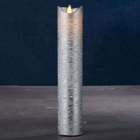 Sara Exclusive LED candle silver   5cm height 25cm