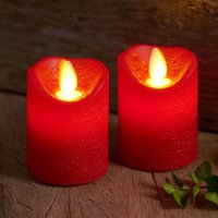 Sara Mini LED candle  2  red    5cm  height 7cm