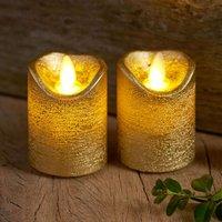 Sara Mini LED candle  2  gold    5cm  height 7cm