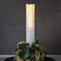Sara Calendar LED candle white romantic 29 cm high