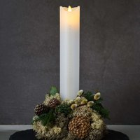 Sara Calendar LED candle white gold height 29 cm