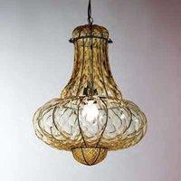 Handmade hanging light DOGE  amber 41 cm